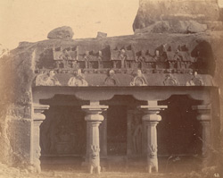 General view of the entrance to the Varaha Cave Temple, Mamallapuram 10032213
